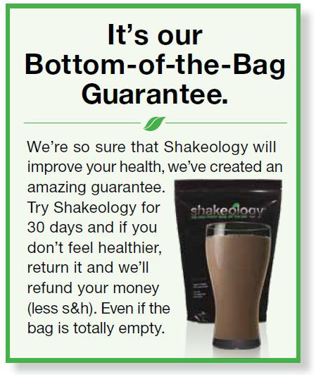 Shakeology Guarantee
