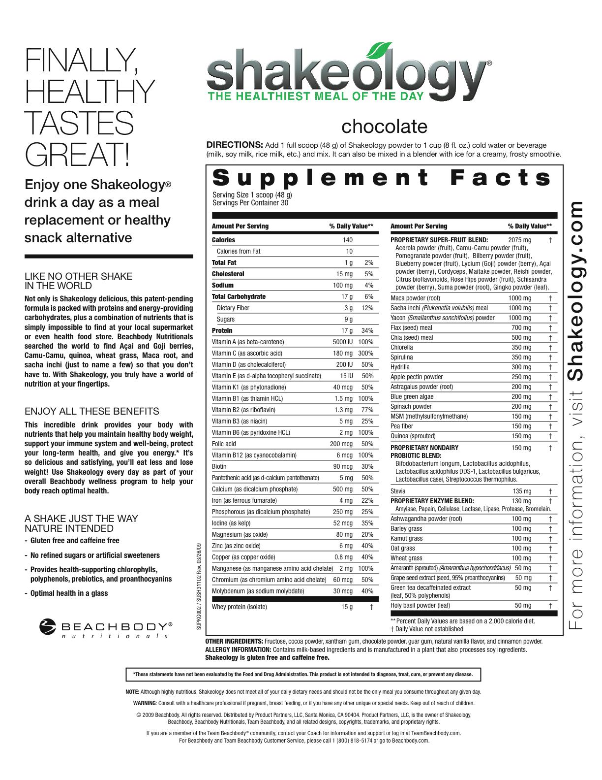 Shakeology Ingredients - Is It Worth It?