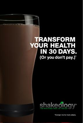 P90X Shakeology Meal Replacement Drink