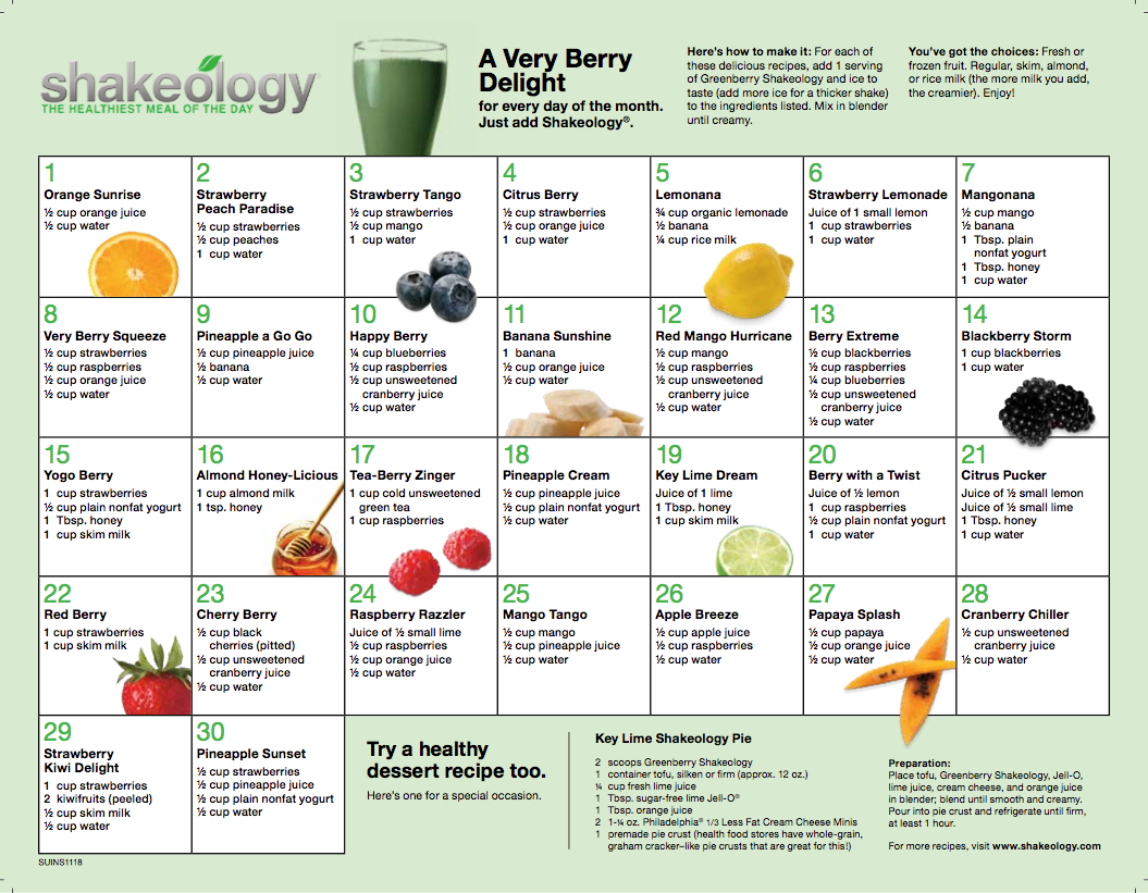 Shakeology Greenberry Recipes - Delicious Shakeology Recipes